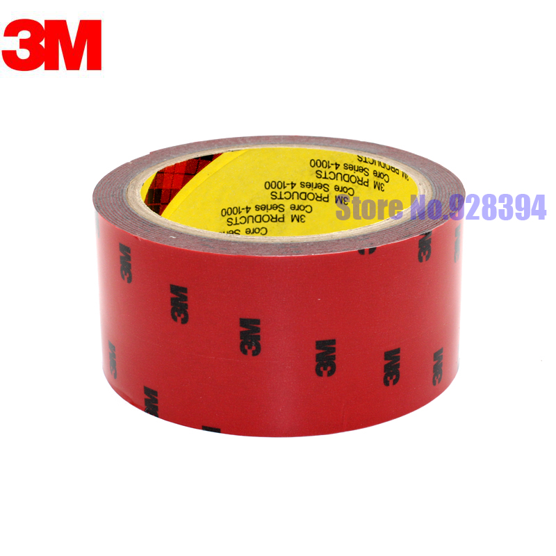 Image 2 - 50mm x 3Meter 3M Tape Automotive Auto Truck Car Acrylic Foam Double Sided Attachment Strong Adhesive Tape Free Shipping-in Office Adhesive Tape from Office & School Supplies
