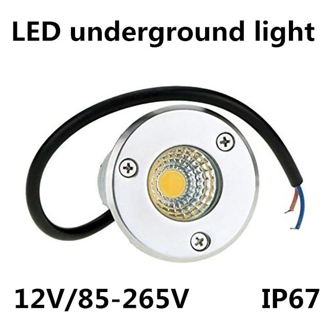 New IP67 3W 5W COB Waterproof LED Underground Light Outdoor Ground Garden Path Floor Buried Yard Spot Landscape 85-265V /12V