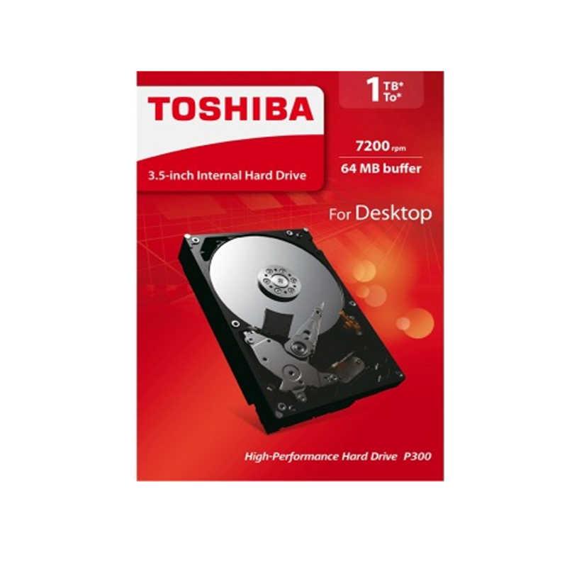 """توشيبا HDWD110AZSTA 1 تيرا بايت 3.5 """"محرك الأقراص الصلبة الداخلي SATA 3.0 7200 دورة في الدقيقة 64 ميجابايت مخبأ P300 سلسلة قرص صلب من حاسوب شخصي مكتبي"""