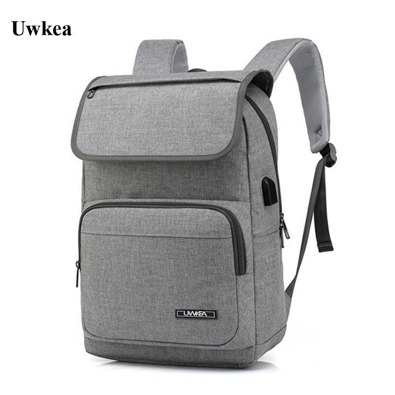 Uwkea, USB, Bag, Casual, Inch, Men