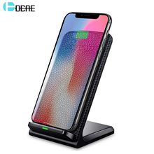 DCAE Leather 10W Qi Wireless Charger For iPhone 8 X XS MAX XR Fast Wireless Charging For Samsung S9 S8 Plus Note 8 9 USB Charger