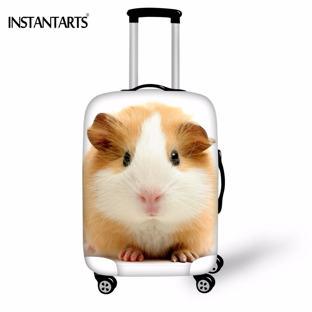 INSTANTARTS Cute 3D Guinea Pig Print Luggage Protetor Covers Apply To 18-30 Inch Trolley Suitcase Travel Thicken Dust Rain Cover