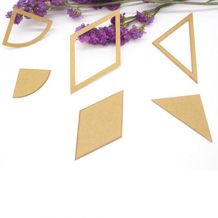 ④Moda 54 unids/set mezclado edredón plantillas acrílico DIY ...