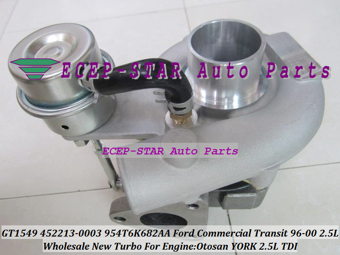 GT1549 452213 452213-5003S 452213-0002 X4T6K682AA Turbo Turbocharger For Ford Commercial Transit van YORK Otosan 97-00 2.5L TDI