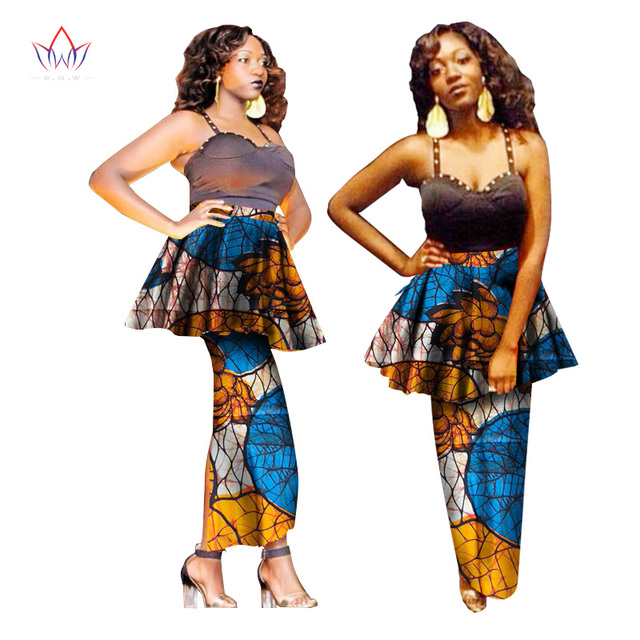 64cba21e30 BRW Ladies Skirts Africa Style Pencil Skirt Floral Long Skirts Summer  Dashiki African Print Plus Size Women Clothing 6XL WY1524