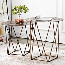 Nordic style sofa corner table Locke creative fashion side modern minimalist wrought iron small round coffee