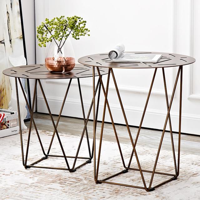 Nordic Style Sofa Corner Table Locke Creative Fashion Side Modern Minimalist Wrought Iron Small Round Coffee