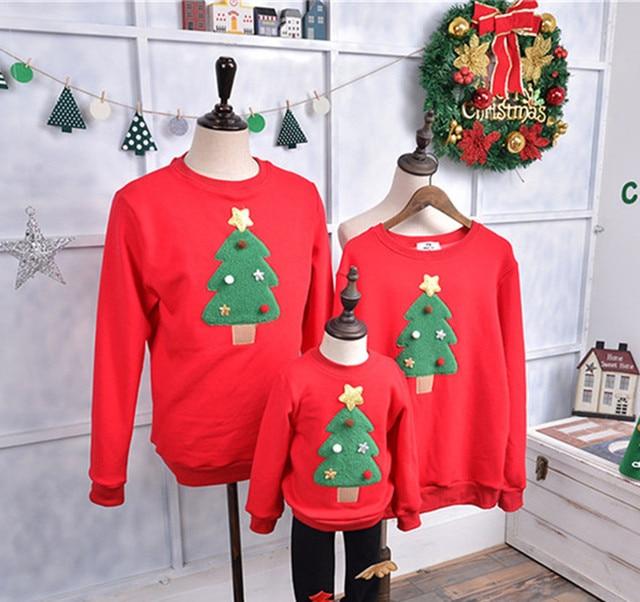 Familia Ropa A Juego 2017 Suéter Vestido de Navidad Para