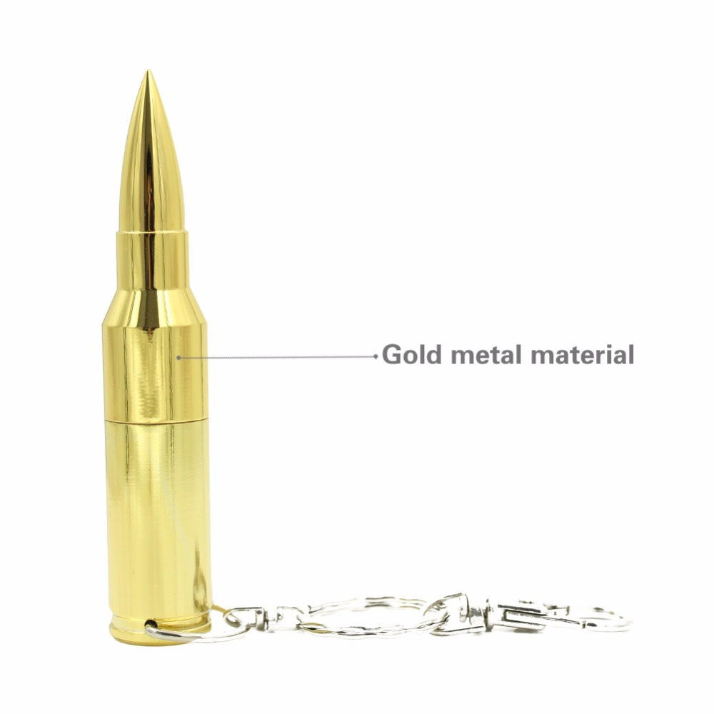 8GB 16GB 32GB 64GB Bullet Shaped Silver Metal Jewelry Necklace USB Flash font b Drive b
