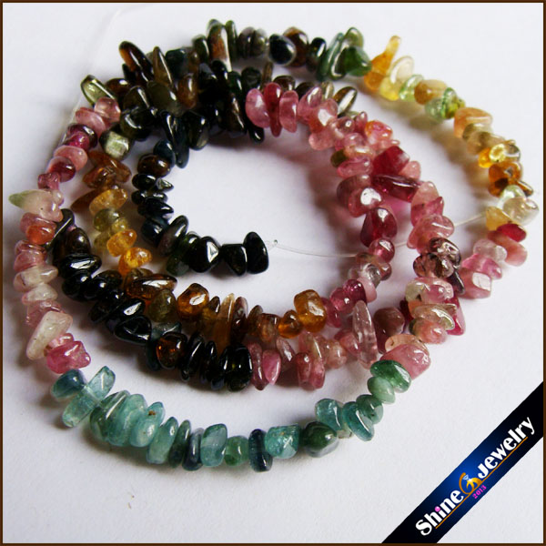 15 Strand 5-8mm Genuine Natural Tourmaline Chip Gems Freeform Gravel Crystal Loose Beads Jewellery Making Material Stone