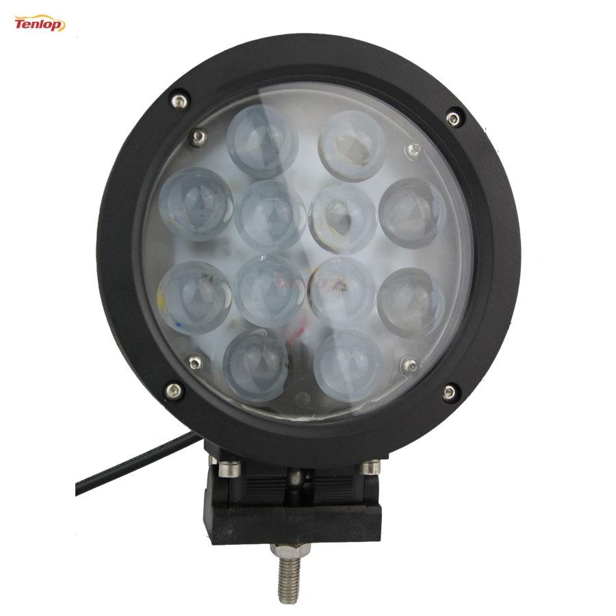 7 Inch 60W LED Front Bumper Light For Offroad 4*4 SUV ATV Car Wrangler 12V 24V light sourcing the newest type 6 3 inch 60w cree tuning light black red for offroad atv suv wrangler truck 12v 24v