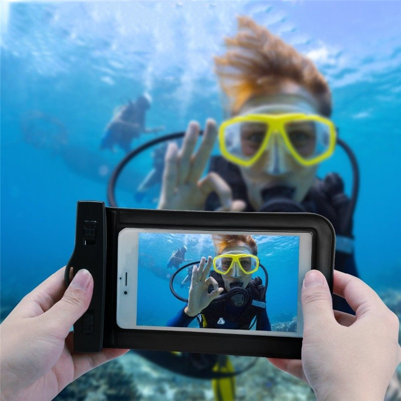 Phone Waterproof Swimming Pouch Convenience PVC Transparent Practical Underwater Seal Snowproof Touch Bag