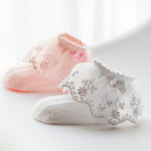 1-4T Baby Girls Summer Socks Infant Fishnet Bow Cotton Sock Infantil Meias Kids Toddler Big Lace Thin Sock Girls Dress Accessory(China)