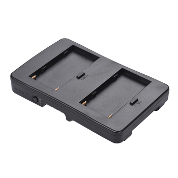 Andoer F2-BP NP-F Battery to V-Mount Battery Converter Adapter Plate Fit F970 F750 F550 fr Canon 5D2 5D3 DSLR Camera LED Monitor