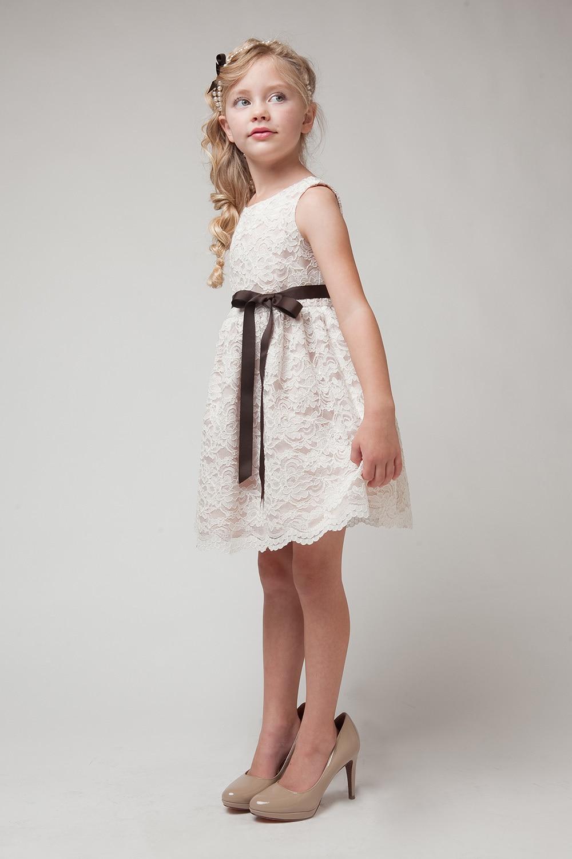 2016 Children Very Hot Beauty Dress Lace Flower Girl Dress -4673