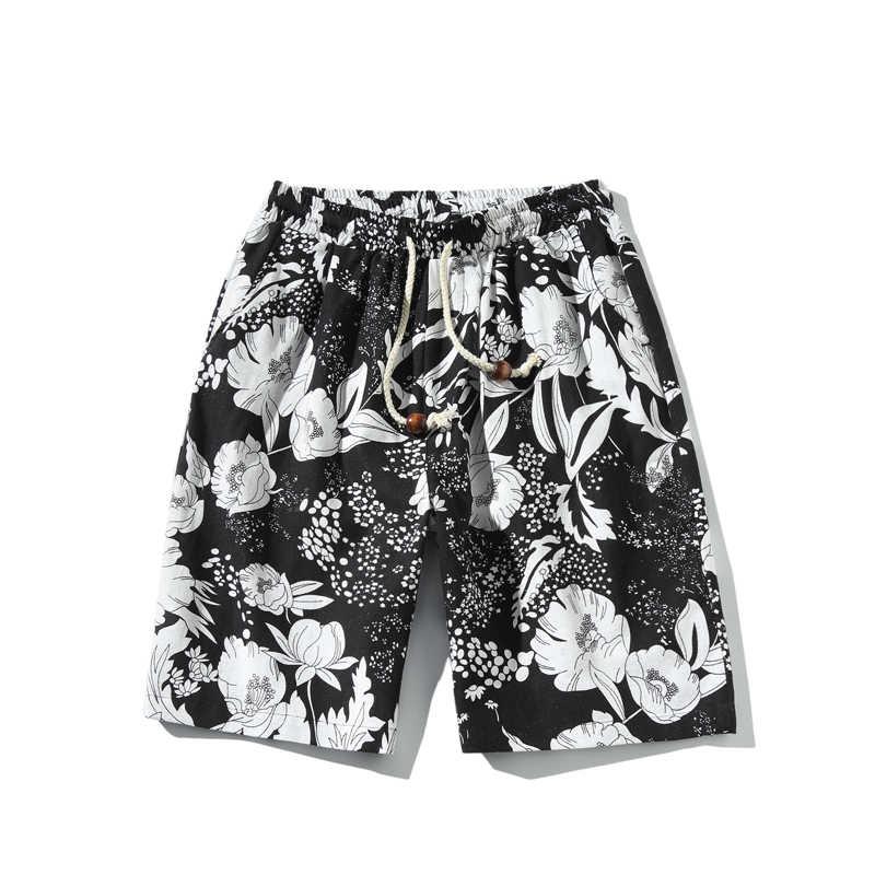 2019 лето новый Гавайский стиль цветочный принт для мужчин и женщин можно носить прямые свободные повседневные шорты большой размер пляжные шорты M-5XL