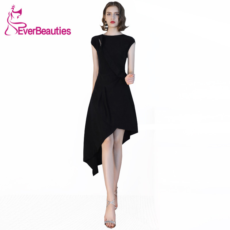 Mermaid   Cocktail     Dresses   2019 Robe De   Cocktail   Women Homecoming   Dresses   Black Prom Party   Dresses