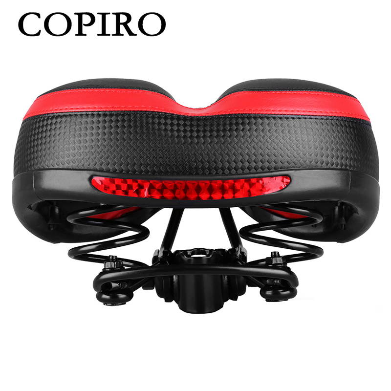 Copiro Bicycle Saddle With Night Reflective Stickers Thickening Widening Bike Seat Cycling Cushion Selle Velo Route Sillin Mtb new arrival carbon saddle bicycle bike saddle seat road bike saddle sillin bicicleta sillin carbono sella carbonio