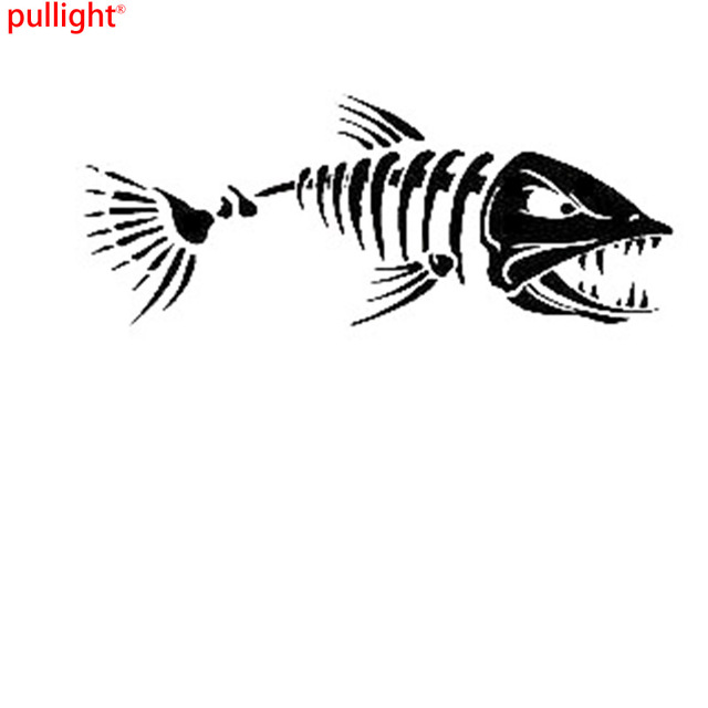 Angry fish sticker fishing bait boat hobbies car window for Fishing boat decals