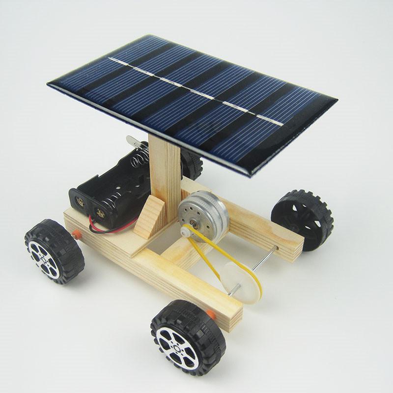HTB1sWaPiC3PL1JjSZFtq6AlRVXaG - DIY Hand Assembling solar electrical energy generation  combination driven vehicle car Physics technology gizmo