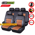 (Car Pass)  Luxury Leather car Seat Cover universal Cayenne Black  car seat covers Cushion interior accessories For Volkswagen