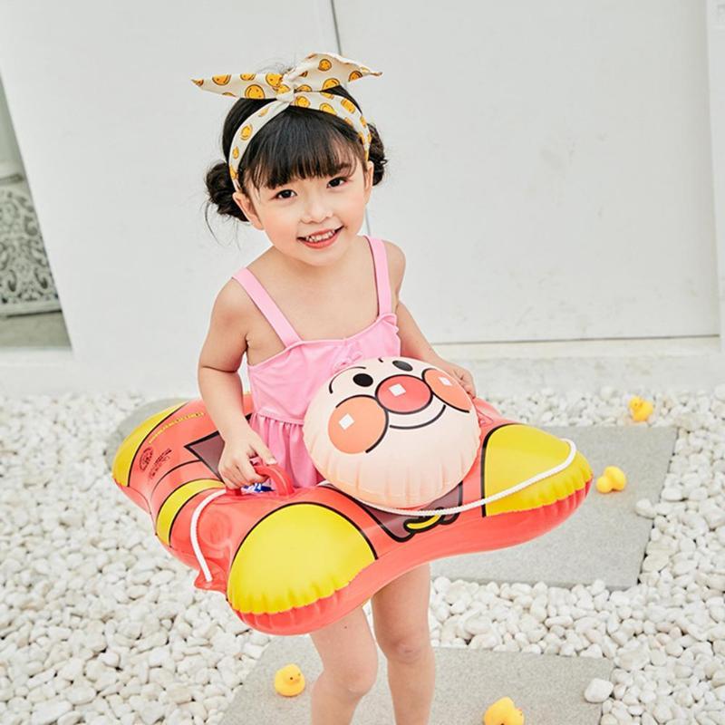 Cartoon Children Swimming Ring Handle Safety Baby Seat Float Swim Ring Inflatable Infant Kids Pool Rings Water Toys Swim Circle