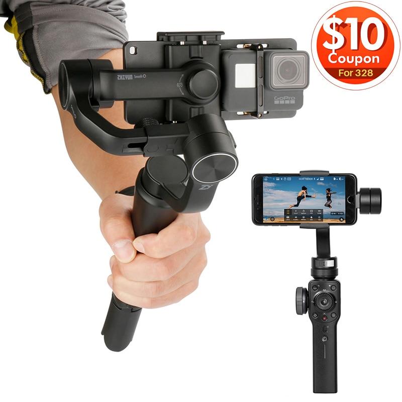 Zhiyun 3-achsen Glatte 4 Gimbal Handheld Video Stabilisator Steadicam APP für iPhone X 8 Gopro Sjcam Xiaomi Yi Action kamera