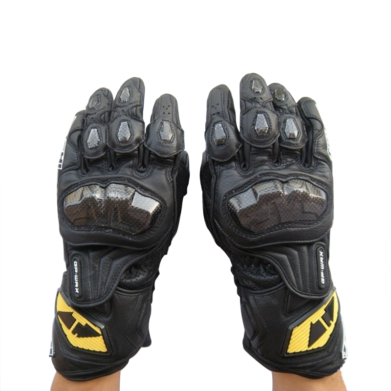 RS Taichi NXT047 GPWAX Racing Carbon Fibre Genuine Leather Motorcycle Gloves