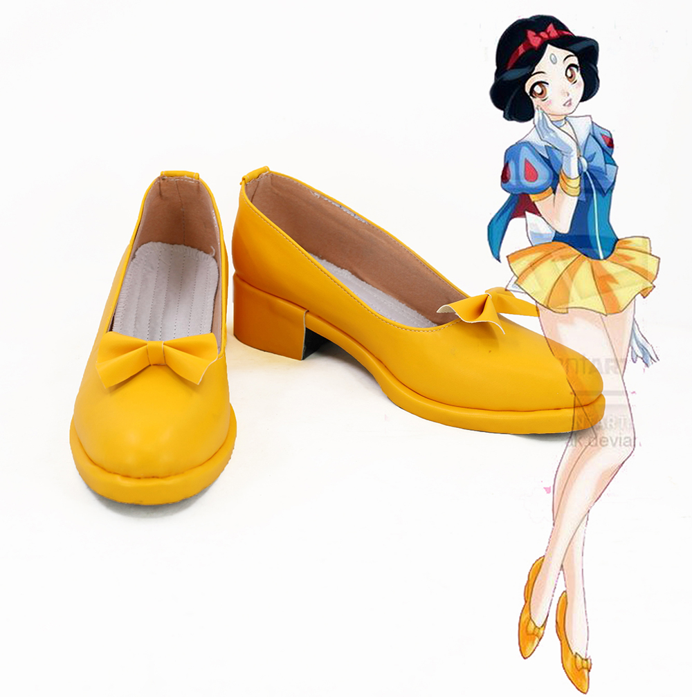 Snow White Sailor Moon Girl Cosplay Shoes Boots Custom Made