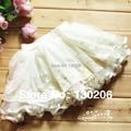 Niñas faldas de encaje faldas del tutú de 2017 niños coreanos del verano minifalda hermosa princess tutu faldas del vestido de bola 2-3-4-5-6 años de edad