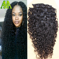 8A Brazilian Virgin Hair 8A Deep Curly Clip In Hair Extensions Unprocessed Brazilian Deep Curly Clip In Human Hair Eextensions