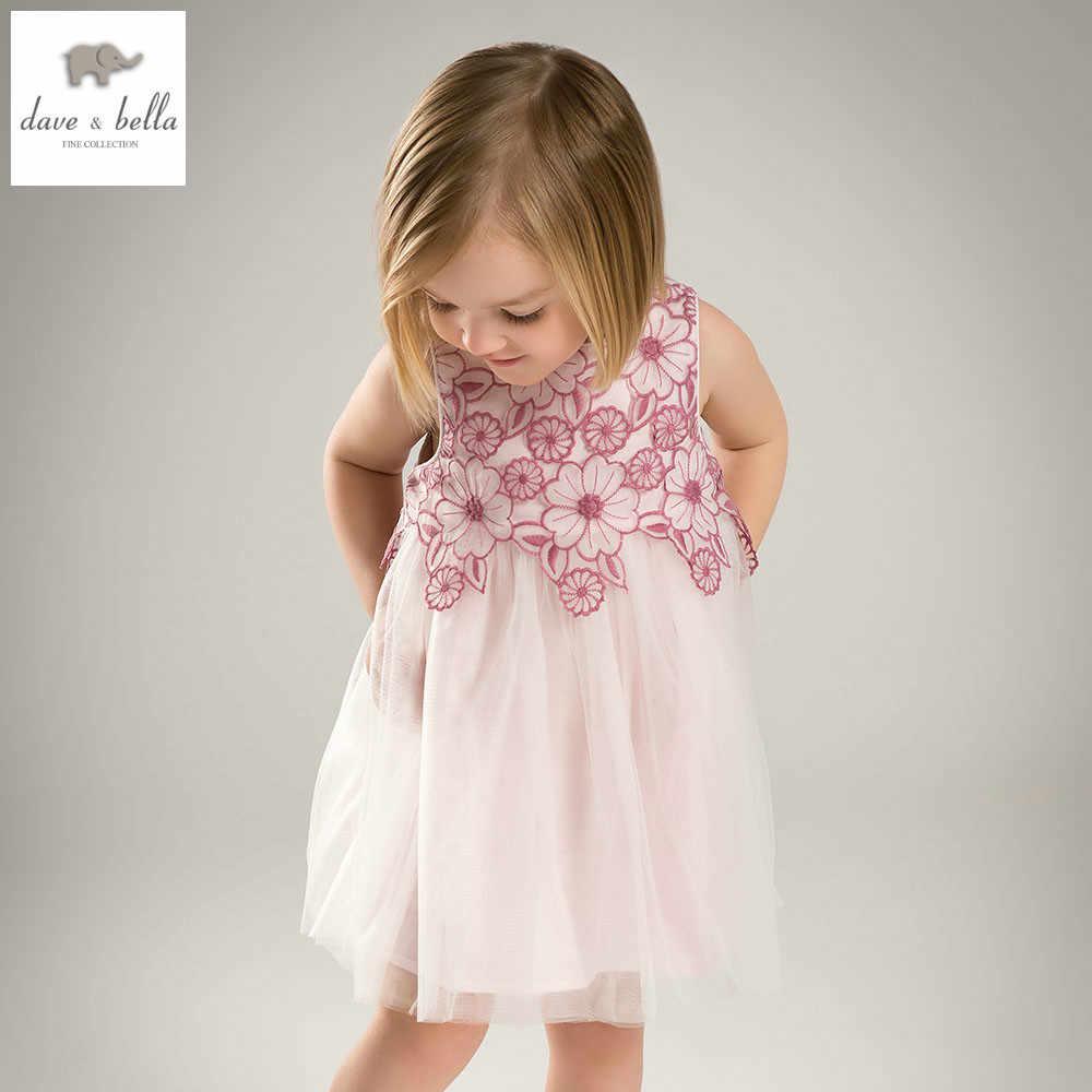 DB5055 dave bella summer baby girls princess dress floral dress baby wedding dress kids birthday cute clothes dress