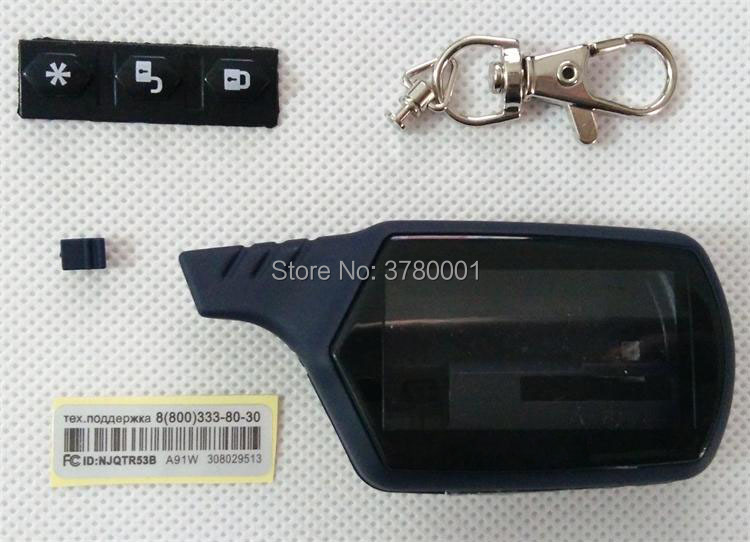 Wholesale A91 Key Shell Keychain Case For Russian Starline A91 Lcd Remote Two Way Car Alarm System Also For StarLine A61 B9 B6