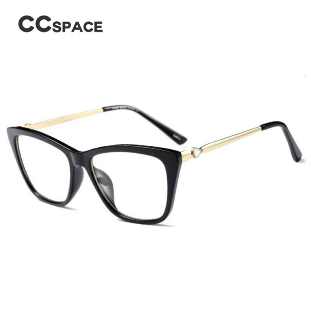 CCSPACE GORGEOUS Metal Crystal Ladies Glasses Frames For Women Brand ...