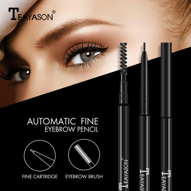 Waterproof Natural Long Lasting Paint Tattoo Eyebrow Black Brown Eyebrow Pencil With Brush Makeup 1