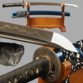 Sharp Wakizashi Japanischen Schwert Full Tang Folded Steel Lehm Gehärtetem Klinge Schwert Handgemachte Tameshigiri Messer Vintage Wohnkultur