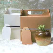 10pcs Creative Kraft Paper Large Gift Box Wedding Candy With Hand Rectangular Packing For Birthday
