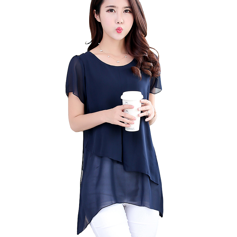 Buy Women Casual Shirts Top Fashion 2016 Summer Style Short Sleeve Chiffon
