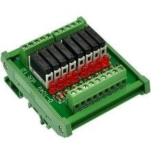 슬림 din 레일 장착 dc12v 싱크/npn 8 SPST NO 5a 전원 릴레이 모듈, PA1a 12V
