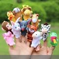 12pcs/set Chinese Zodiac Sign Funny finger toys Gag toys Practical Jokes  Educational  Stage Performance toys  Plush kids toys