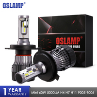 Oslamp Mini H4 H7 H11 LED Car Headlight Bulbs Hi Lo Beam 60W 12v 24v CSP