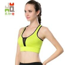 Yoga Tillbaka Mesh Push Up Sport BH Top Fitness Racerback BH Kvinnor Deep V Gym Sport Topp Padded Yoga Bras Running Underkläder