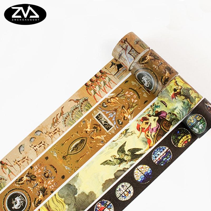 20-80mm*7M Renaissance Series Washi Tape Scrapbooking Diary DIY Sticker Decorative Adhesive Tape Office Stationery Washitape