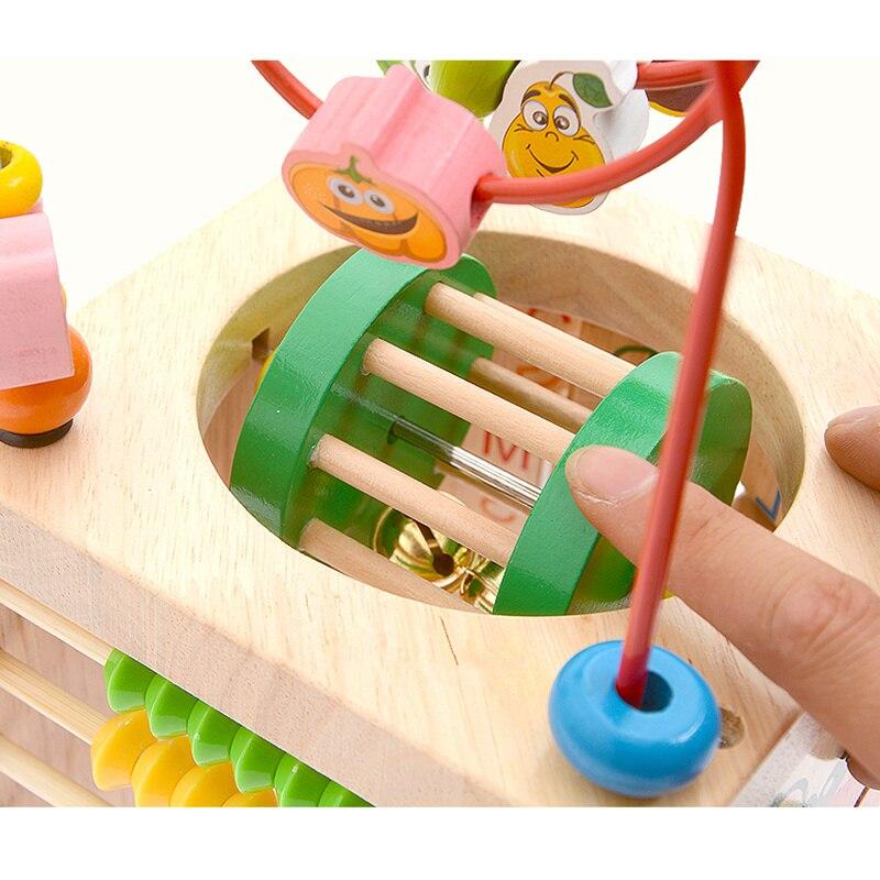 Montessori Math jouet jouets en bois pour enfants Multi fonction boulier horloge perles jouet éducatif enseignement aides pour enfants bébé - 5