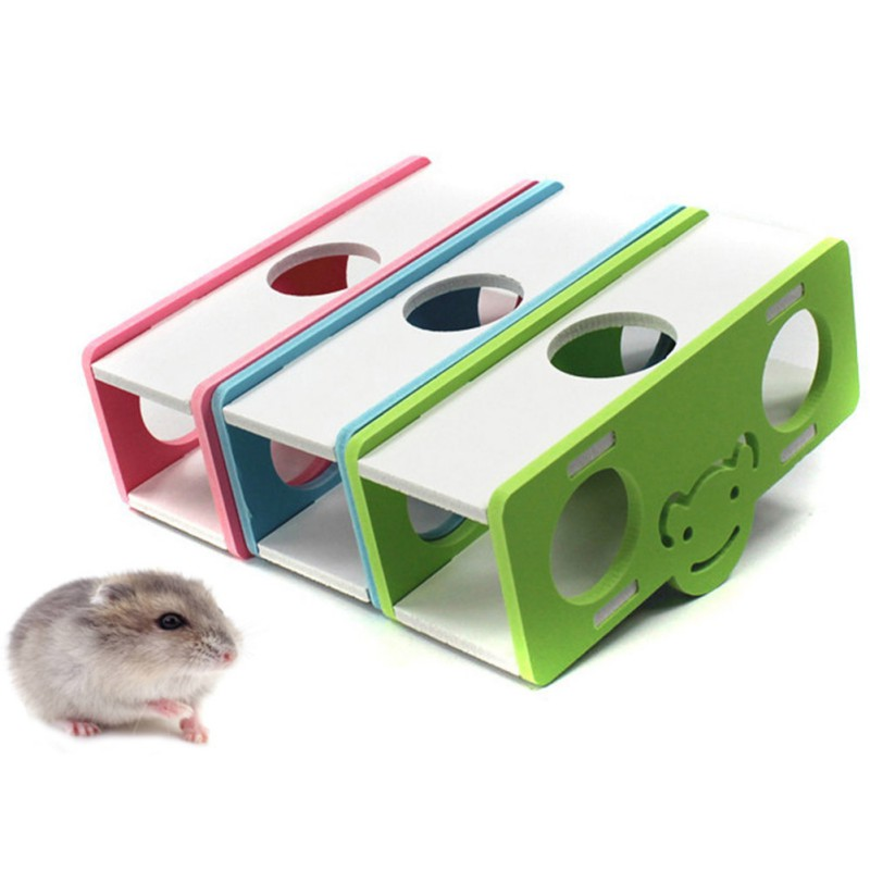 Hamster Seesaw Toy Cartoon Pets Exercising Running Tunnel Colorful Toys Accessories Supplies For Small Animal