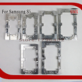 2 pcs moldes de alinhamento de liga de alumínio do metal para samsung galaxy s5 Substituir LCD Cola UV OCA Laminado Molde Fixo de telefone Molde vidro
