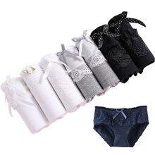 1542e43636b2 7 Pcs/lot Underwear Women Sexy Panties Printed Cotton Briefs Seamless  Underpant Calcinhas Girls Panty Ladies Lace Panties Boxer