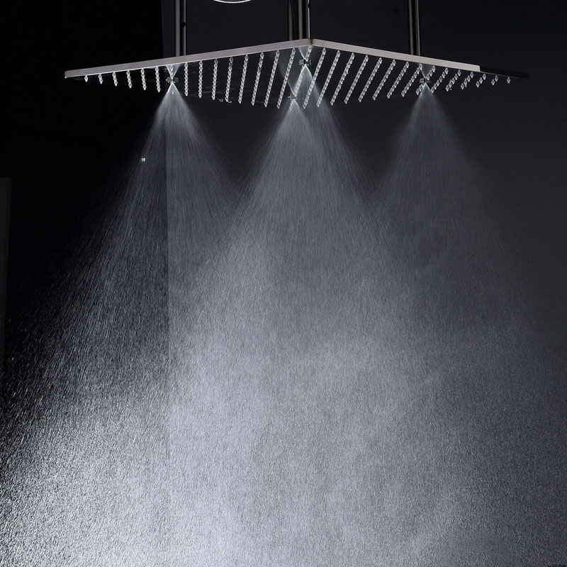Popular 20'' Stainless Steel Led Rain And Mist Shower Head Ceiling Mounted Massage Spray With Adjustable Shower Arms - 4