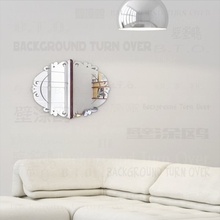 Mirror Wall Mirrors Body Kawaii Makeup Decor Round Shower Vanity Room Stickers Full Hanging For Home Vintage Bedroom Oval M011 macrame wall hanging mirrors ins nordic wall mirrors hand made wall tapestry home porch mirrors for home makeup bath room