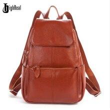 Женские рюкзаки натуральная кожа известный бренд дамы рюкзак для девочек-подростков школьные сумки моды Mochilas японии корейский стиль